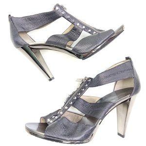 Michael Kors | Metallic Silver Cage Heel